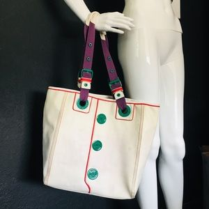 Vintage Marc Jacobs White Leather Tote Bag